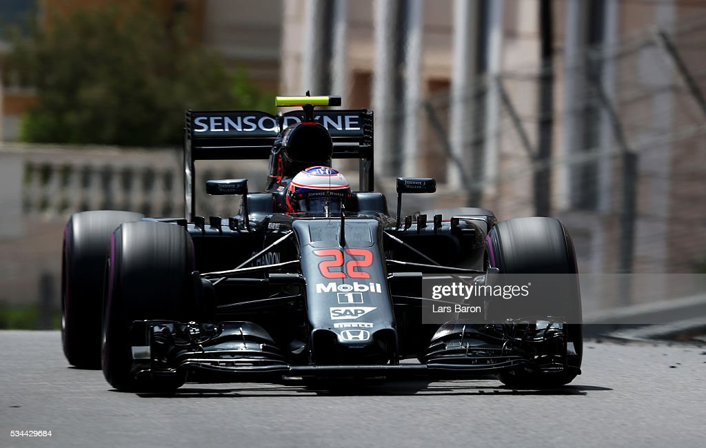 during practice for the Monaco Formula One Grand Prix at Circuit de Monaco on May 26, 2016 in Monte-Carlo, Monaco.