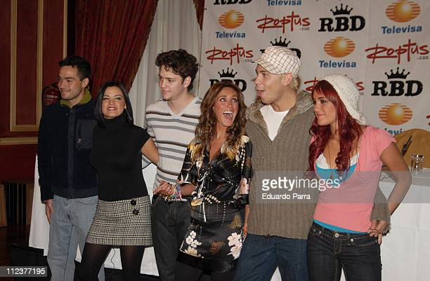 RBD during RBD Press Conference in Madrid January 8 2007 at Palace Hotel in Madrid Spain