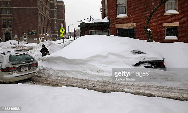 During record snowfall in the City of Boston's history Jillian Tenen's car parked on Isabella Street went through weeks of storms and melting frozen...