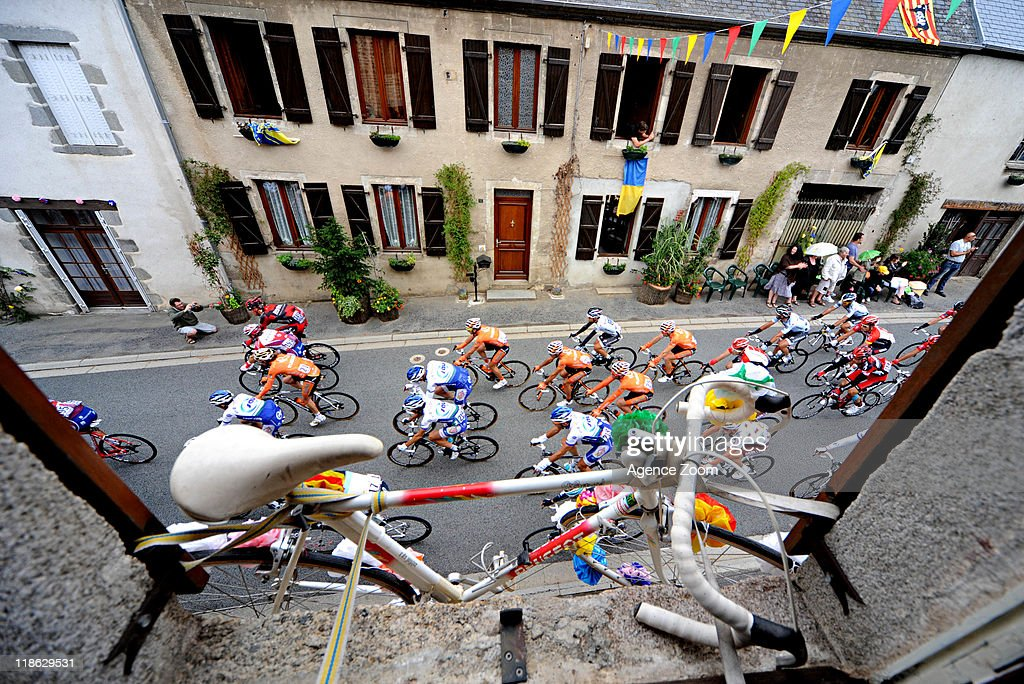 During Stage 8 of the Tour de France on July 9, 2011 Aigurande to Super-Besse Sancy, France.