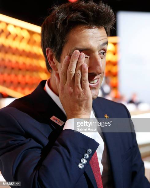 Paris 2024 Bid CoChair and 3time Olympic Champion Tony Estanguet shot his emotion LIMA PERU SEPTEMBER 13 during the 131th IOC Session 2024 2028...
