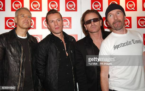 U2 during the 15th annual Q Awards at Grosvenor House in London's Park Lane Jonathan Ross hosts the music magazine awards honouring the best in the...