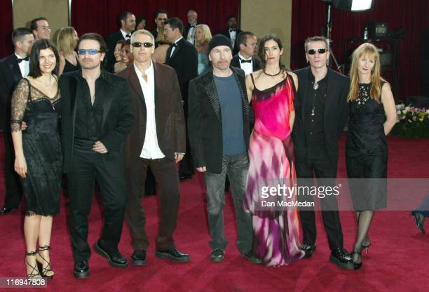 U2 during The 75th Annual Academy Awards Arrivals at The Kodak Theater in Hollywood California United States