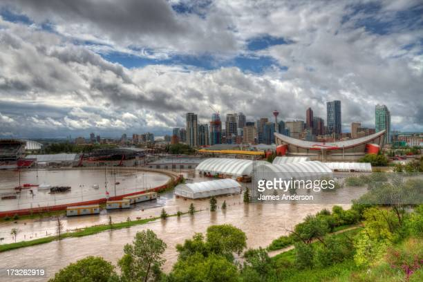 CONTENT] During the Alberta flood the Stampede grounds are flooded out and the Saddledome was full of water up to row 10 The Elbow River that runs...