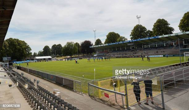 during the Allsvenskan match between Halmstad BK and GIF Sundsvall at Orjans Vall on July 22 2017 in Halmstad Sweden