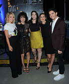 Actor Kelly Ripa Ilana Glazer Abbi Jacobson Lucia Aniello and Paul W Downs attend the Tribeca Tune In Broad City during the 2016 Tribeca Film...