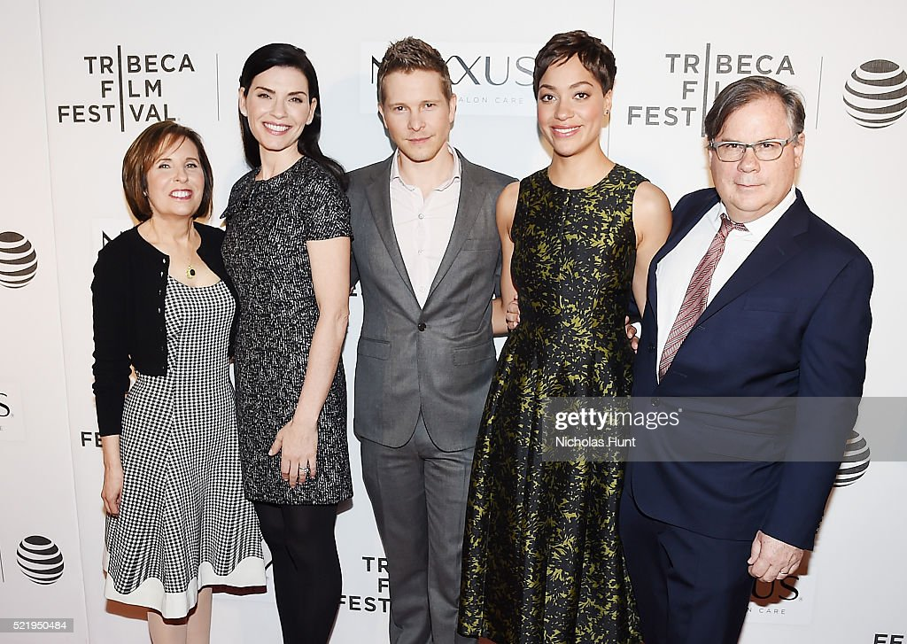 Michelle King Julianna Margulies Matt Czuchry Cush Jumbo and Robert King attends the Tribeca Tune In 'The Good Wife' during the 2016 Tribeca Film...