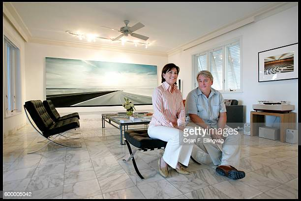 During the Art Basel International art fair Dennis and Debra Scholl open their art filled home to thousands of guests visiting Miami Beac during the...