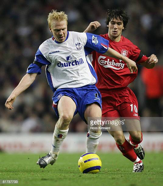 during the Barclays Premiership match between Liverpool and Crystal Palace at Anfield on November 13 2004 in Liverpool England