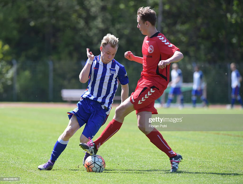 During the B-juniors cup match between FC Hertha 03 and Hertha BSC on May 5, 2016 in Berlin, Germany.