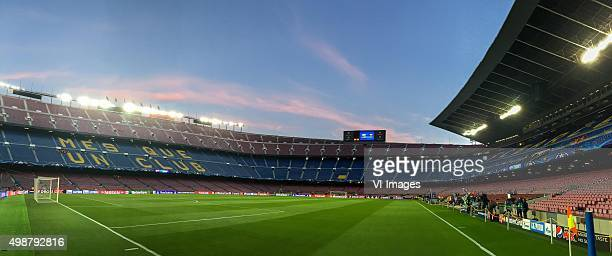 during the Champions League match between FC Barcelona and AS Roma on November 24 2015 at the Camp Nou stadium in Barcelona Spain