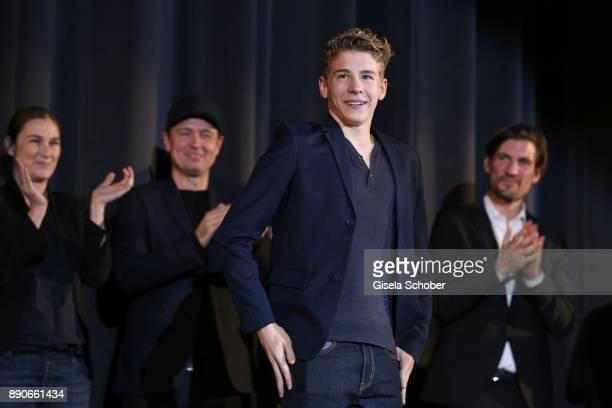 during the 'Dieses bescheuerte Herz' premiere at Mathaeser Filmpalast on December 11 2017 in Munich Germany