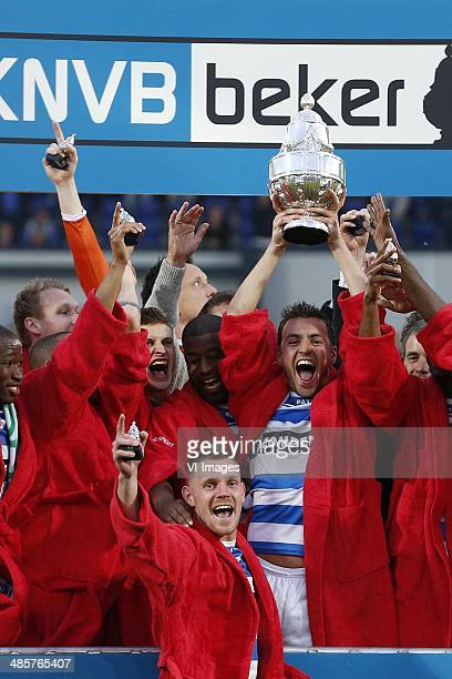 during the Dutch Cup final match between Pec Zwolle and Ajax Amsterdam on April 20 2014 at the Kuip stadium in Rotterdam The Netherlands