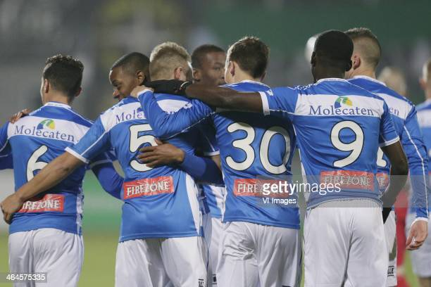 during the Dutch cup match between PEC Zwolle and JVC Cuijk at IJsseldelta stadium on January 22 2014 in Zwolle The Netherlands