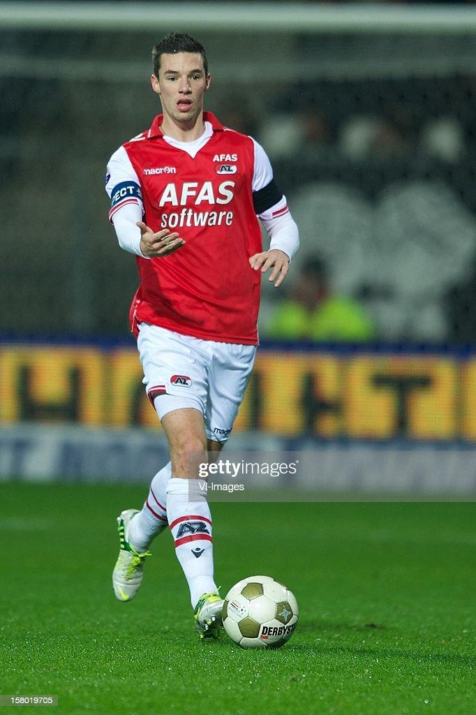 during the Dutch Eredivisie match between AZ Alkmaar and Willem II at the AFAS Stadium on December 08, 2012 in Alkmaar, The Netherlands.