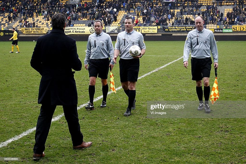 during the Dutch Eredivisie match between Roda JC Kerkrade and Feyenoord at the Parkstad Limburg on march 10, 2013 in Kerkrade, The Netherlands