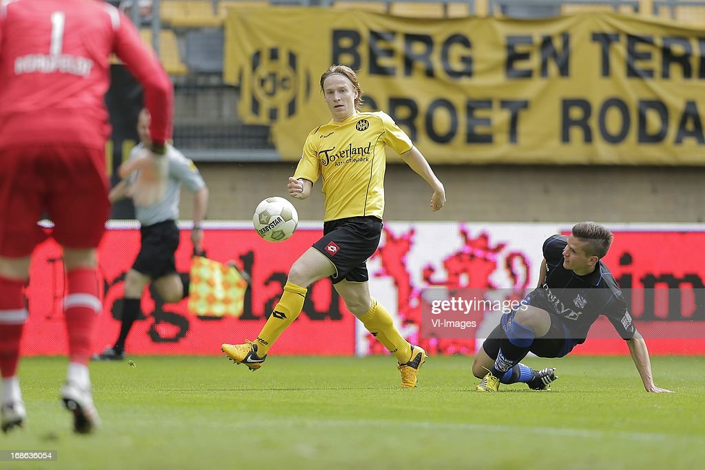during the Dutch Eredivisie match between Roda JC Kerkrade and sc Heerenveen on May 12, 2013 at the Parkstad Limburg stadium in Kerkrade, The Netherlands.