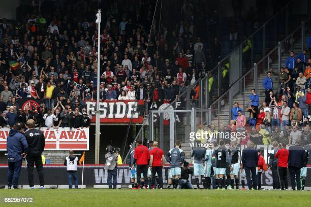 during the Dutch Eredivisie match between Willem II Tilburg and Ajax Amsterdam at Koning Willem II stadium on May 14 2017 in Tilburg The Netherlands