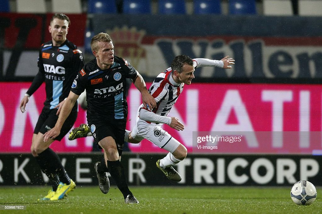 during the Dutch Eredivisie match between Willem II Tilburg and De Graafschap at Koning Willem II stadium on February 13, 2016 in Tilburg, The Netherlands