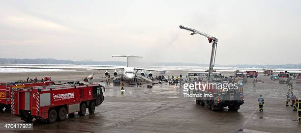 During the emergency management exercise LUEKEX 2010 at the Cologne Bonn airport more than 1000 relief forces of the police fire department and...
