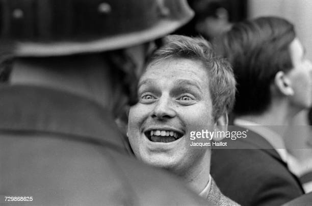 During the events of May 1968 radical student leader Daniel CohnBendit confronts a policeman during the police expulsion of 500 students who had been...
