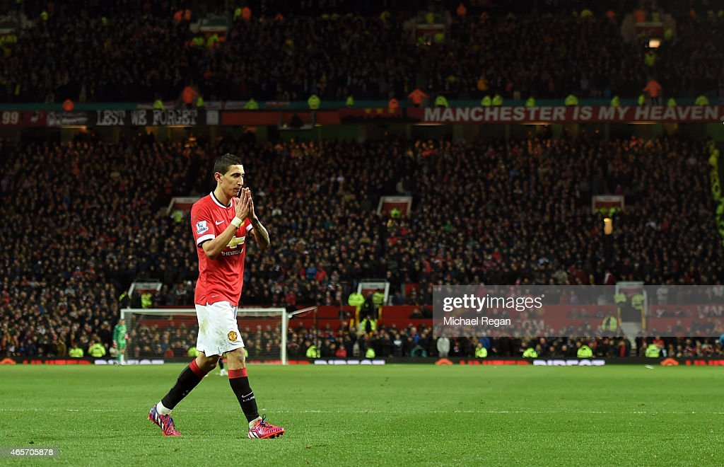 during the FA Cup Quarter Final match between Manchester United and Arsenal at Old Trafford on March 9, 2015 in Manchester, England.