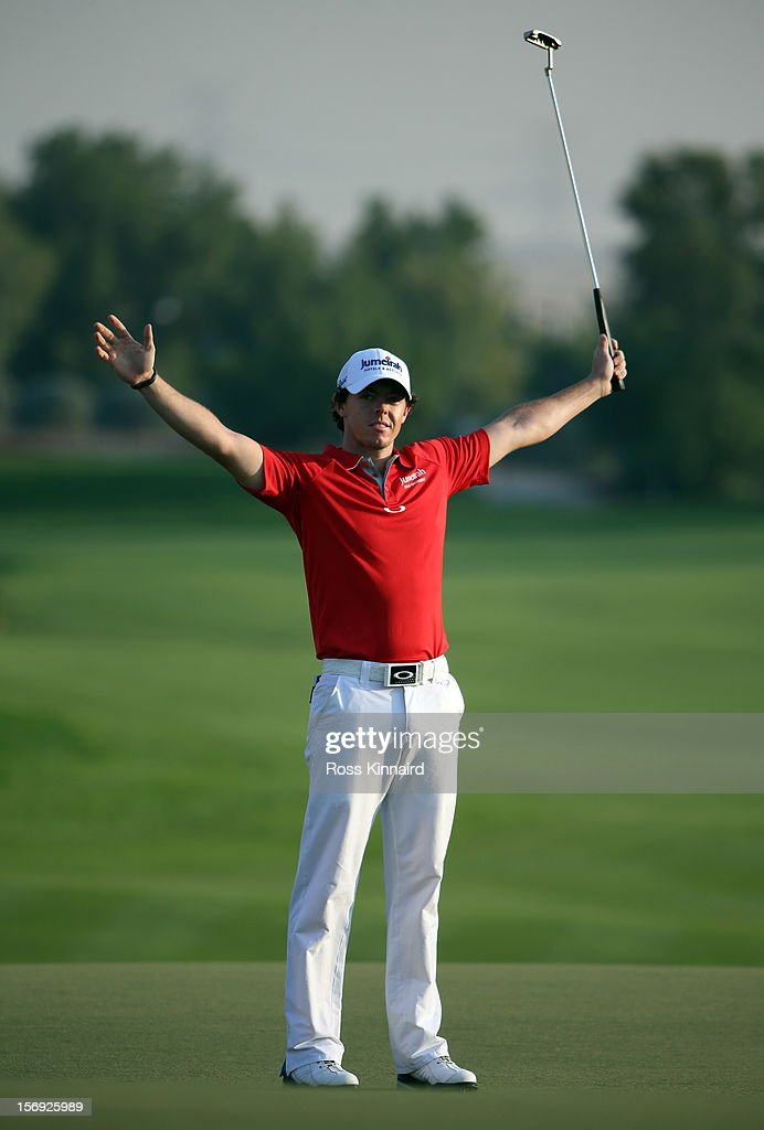 during the final round the DP World Tour Championship on the Earth Course at Jumeirah Golf Estates on November 25, 2012 in Dubai, United Arab Emirates.