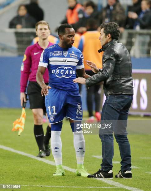 BASTIA during the French Ligue 1 match between Bastia and Nantes at Stade Armand Cesari on March 1 2017 in Bastia France