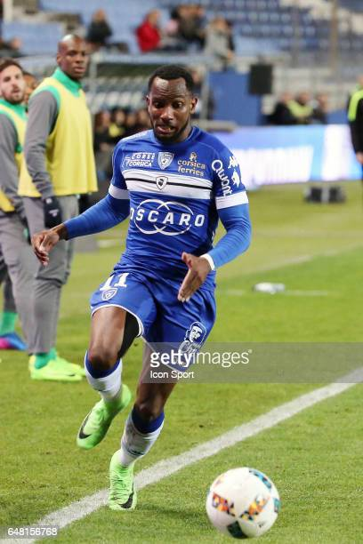 BASTIA during the French Ligue 1 match between Bastia and Saint Etienne at Stade Armand Cesari on March 4 2017 in Bastia France