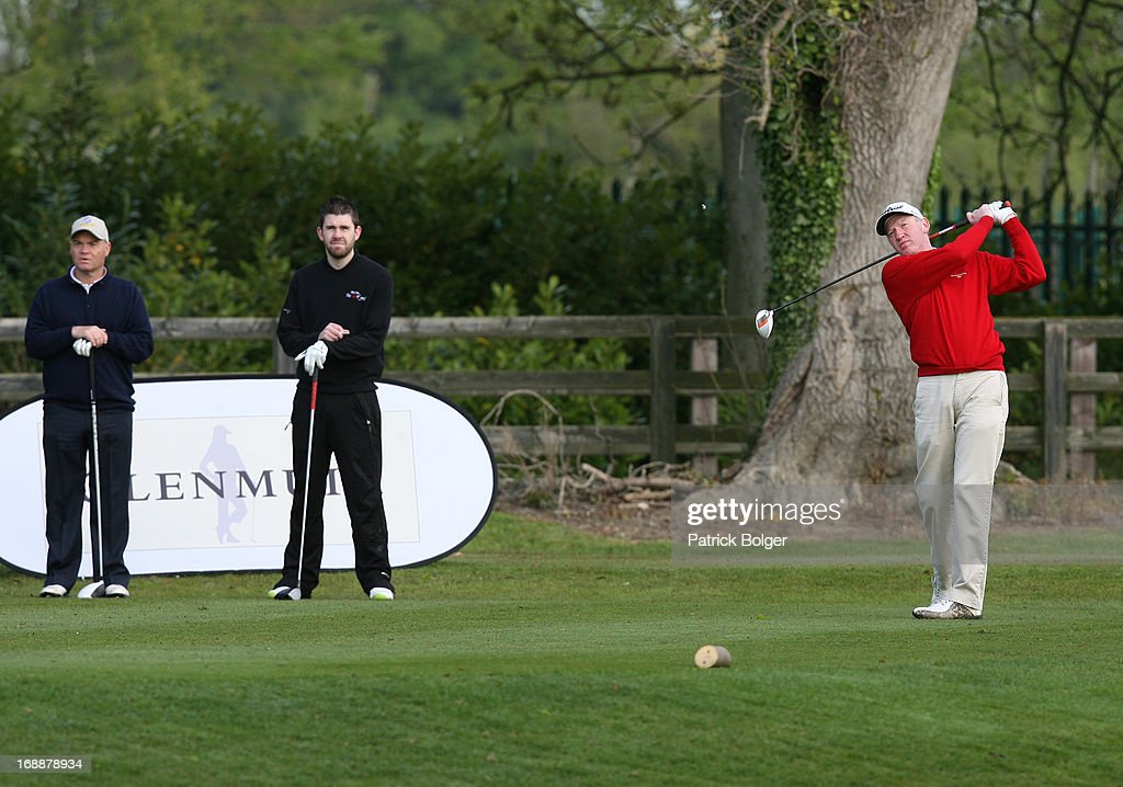 during the Glenmuir PGA Professional Championship - Regional Qualifier at Roganstown Golf Club on May 16th, 2013 in Roganstown, Ireland. John Kelly(R) with John Murray(L) and Fintan Lacey