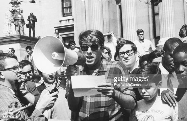 During the height of the 1968 protests at Columbia University American political activist Mark Rudd a leader of Students for a Democratic Society...