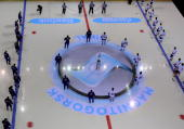 During the IIHF Champions Hockey League final game between Metallurg Magnitogorsk and ZSC Lions Zurich at the Magnitogorsk Arena on January 21 2009...