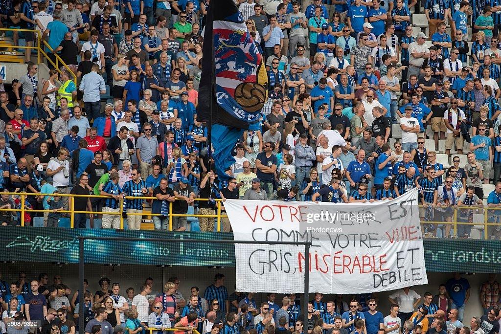 during the Jupiler Pro League match between Club Brugge and Standard de Liege at the Jan Breyden stadium on August 28 2016 in Brugge Belgium