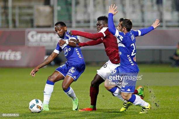 during the Ligue 1 match between Fc Metz and SC Bastia at Stade SaintSymphorien on March 17 2017 in Metz France