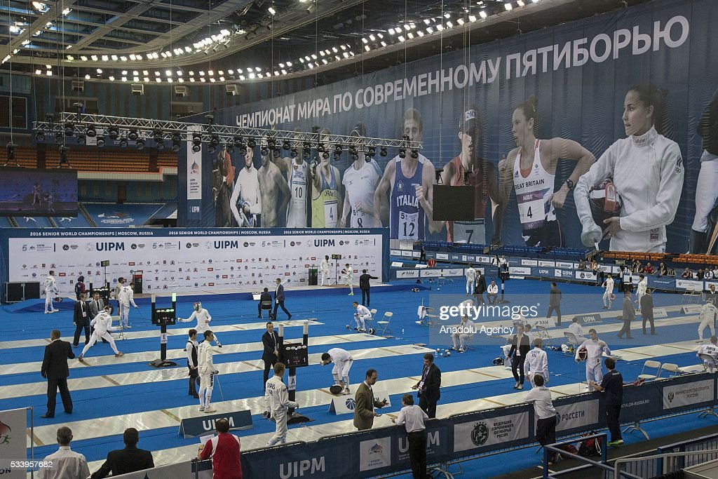 During the men's relay World Championship in modern pentathlon in Moscow in Olympic Sports Complex in Moscow, Russia, on May 24, 2016.
