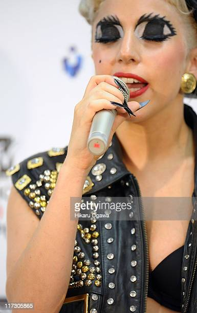 GAGA during the MTV Video Music Aid Japan at Makuhari Messe on June 25 2011 in Chiba Japan