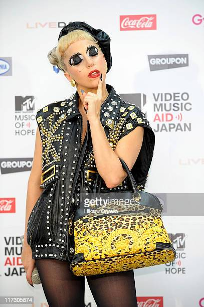 GAGA during the MTV Video Music Aid Japan at Makuhari Messe on June 25 2011 in Chiba Japan