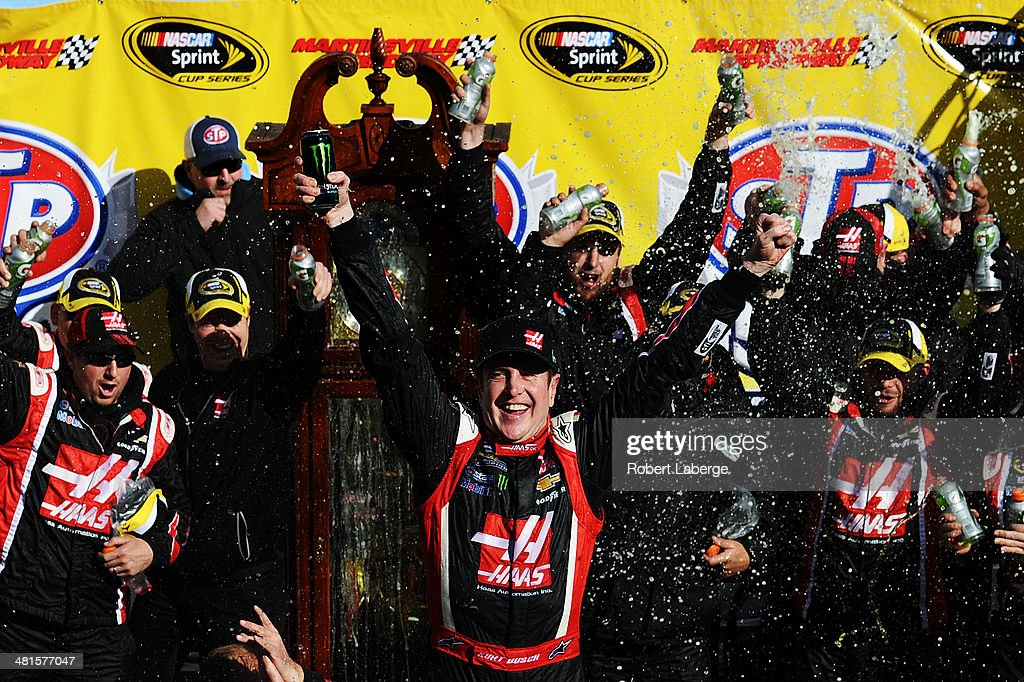 during the NASCAR Sprint Cup Series STP 500 at Martinsville Speedway on March 30, 2014 in Martinsville, Virginia.