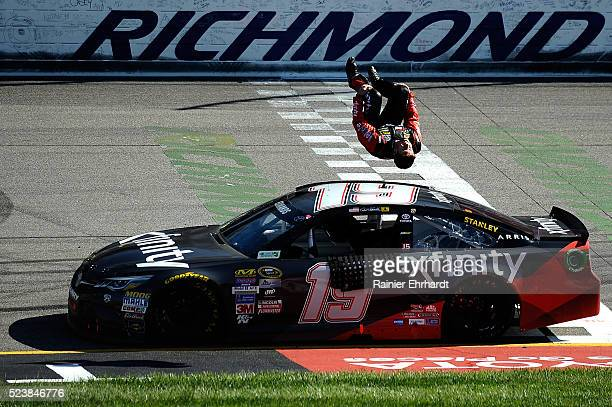 during the NASCAR Sprint Cup Series TOYOTA OWNERS 400 at Richmond International Raceway on April 24 2016 in Richmond Virginia