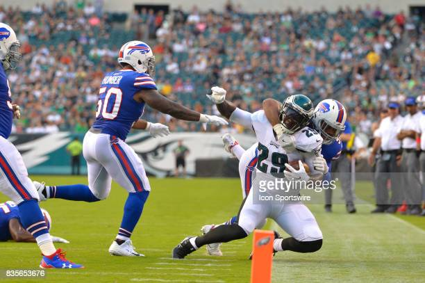 252 during the NFL preseason game between the Buffalo Bills and the Philadelphia Eagles on August 17 2017 at Lincoln Financial Field in Philadelphia...
