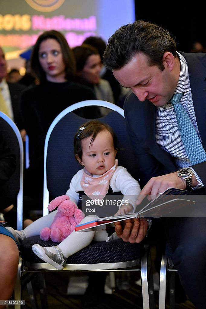 during the official launch of the Liberal Party 2016 Federal Campaign at Homebush Novotel June 26, 2016 in Sydney, Australia. (Photo by Jason Edwards-Pool/Getty Images) well as ex PMs Tony Abbott and John Howard at Homebush Novotel. Malcolm Turnbull Son Alex wife Yvonne, Isla,1 ,