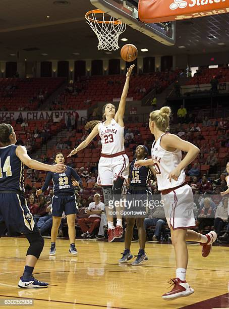 during the Oral Roberts University vs University of Oklahoma NCAA Women's Basketball game December 4 at the Lloyd Noble Center in Norman OK