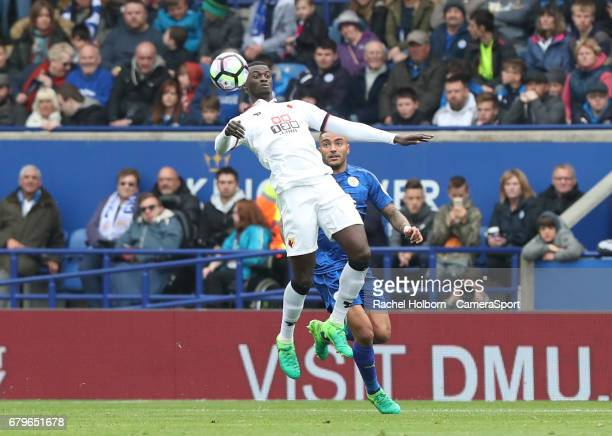 during the Premier League match between Leicester City and Watford at The King Power Stadium on May 6 2017 in Leicester England