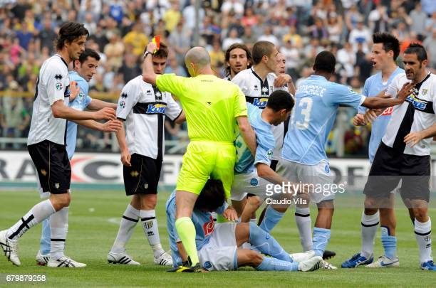 LAVEZZI during the 'Serie A' 2007/2008 match round 34 between Parma and Napoli at the 'Ennio Tardinii' stadium in Parma