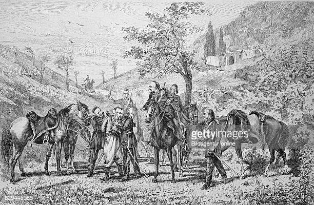 During the siege of plevna bulgaria historic wood engraving ca 1880