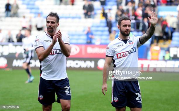 during the Sky Bet Championship match between Bolton Wanderers and Sheffield Wednesday at Macron Stadium on October 14 2017 in Bolton England