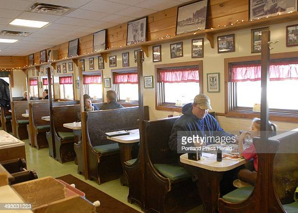 During the summer the wait at Moody's Diner in Waldoboro can be lengthy But this time of year it's easy to snag a booth or a spot at the counter