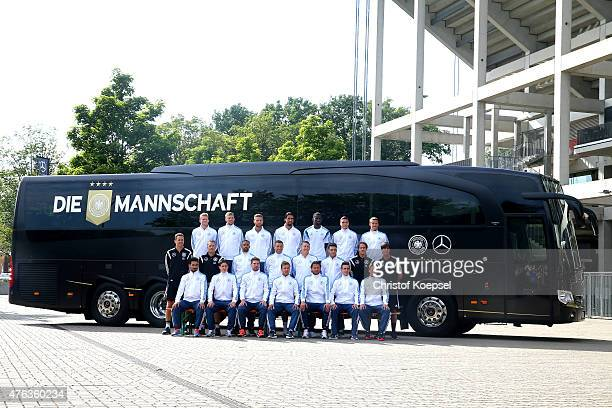 during the team presentation of Germany wit the new Mercedes team bus at Vorplatz Sued on June 8 2015 in Cologne Germany