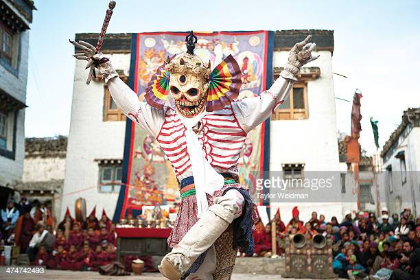 During the threeday spectacle of the Tiji Festival monks dress as different animals demons and divinities to enact an epic fight between good and...