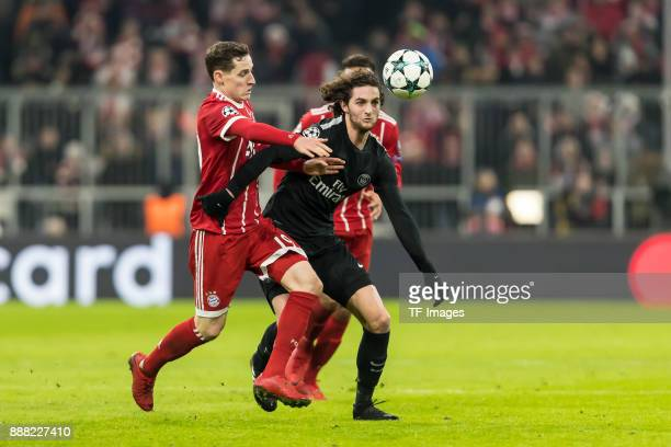 during the UEFA Champions League group B match between Bayern Muenchen and Paris SaintGermain at Allianz Arena on December 05 2017 in Munich Germany